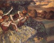 Edgar Degas Four dansoser oil painting picture wholesale