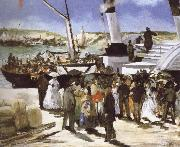 Edouard Manet The Departure of the folkestone Boat oil painting picture wholesale