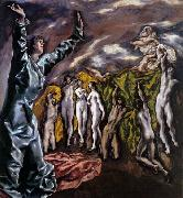 El Greco The Opening of the Fifth Seal oil painting picture wholesale