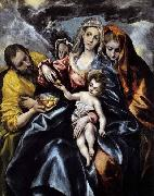 El Greco The Holy Family with St Mary Magdalen oil painting picture wholesale