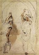 Eugene Delacroix Two Women at the Well oil painting picture wholesale