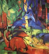 Franz Marc Radjur in the forest II oil painting reproduction