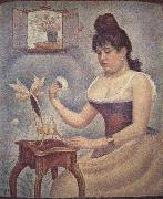 Georges Seurat Young woman Powdering Herself oil painting picture wholesale