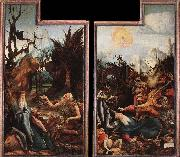 Grunewald, Matthias Visit of St Antony to St Paul and Temptation of St Antony oil painting picture wholesale