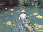 Gustave Caillebotte Bathers about to Dive into the Yerres oil painting picture wholesale