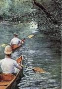 Gustave Caillebotte Canoeing on the Yerres oil painting picture wholesale