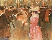 Henri de toulouse-lautrec A Dance at the Moulin Rouge oil painting picture wholesale