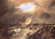 J.M.W. Turner Calais Pier,with French Poissards preparing for sea oil painting reproduction