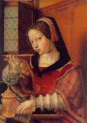 Jan Sanders van Hemessen Woman Weighing Gold oil painting artist