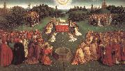 Jan Van Eyck Lamb worship oil painting picture wholesale