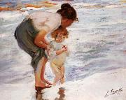 Joaquin Sorolla Y Bastida On the Beach oil painting picture wholesale