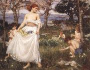 John William Waterhouse A Song  of Springtime oil painting picture wholesale