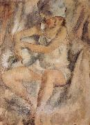 Jules Pascin Maiden wearing Islamic kerchief oil painting picture wholesale