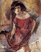 Jules Pascin The beautiful girl from England oil painting reproduction