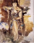 Jules Pascin Lucy wearing the roseal dress oil painting picture wholesale