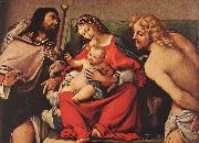 Lorenzo Lotto Madonna with the Child and Sts Rock and Sebastian oil painting picture wholesale
