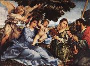 Lorenzo Lotto Madonna and Child with Saints and an Angel oil painting picture wholesale