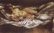 Lovis Corinth Reclining Nude oil painting