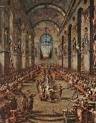MAGNASCO, Alessandro The Observant Friars in the Refectory oil painting picture wholesale