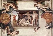 Michelangelo Buonarroti Drunkenness of Noah oil painting picture wholesale