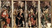 PACHER, Michael Altarpiece of the Church Fathers oil painting picture wholesale
