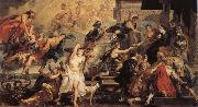 Peter Paul Rubens Henr IV himmelsfard and regeringsproklamationen oil painting picture wholesale