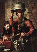 Pieter Aertsen Vendor of Fowl oil painting artist