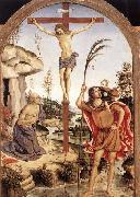 Pinturicchio The Crucifixion with Sts Jerome and Christopher oil painting picture wholesale
