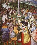 Pinturicchio Aeneas Piccolomini Introduces Eleonora of Portugal to Frederick III oil painting picture wholesale