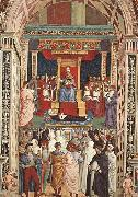 Pinturicchio Pope Aeneas Piccolomini Canonizes Catherine of Siena oil painting picture wholesale