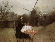 Ramon Casas Out of Doors oil painting artist