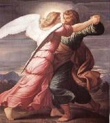 STEINLE, Edward Jakob von Jacob Wrestling with the Angel oil painting reproduction