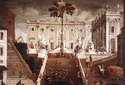 TASSI, Agostino Competition on the Capitoline Hill oil painting artist