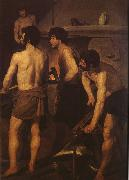 VELAZQUEZ, Diego Rodriguez de Silva y Detail of Smelt factory oil painting picture wholesale