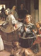 VELAZQUEZ, Diego Rodriguez de Silva y Detail of Palace handmaiden oil painting picture wholesale