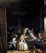 VELAZQUEZ, Diego Rodriguez de Silva y Las Meninas or The Family of Philip IV oil painting picture wholesale