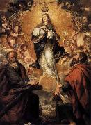unknow artist Virgin of the Immaculate Conception with Sts Andrew and John the Baptist oil painting picture wholesale