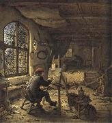 Adriaen van ostade The Painter in his Studio oil
