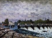 Alfred Sisley Molesey Weir-Morning oil