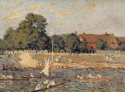 Alfred Sisley Regatta at Hampton Court oil