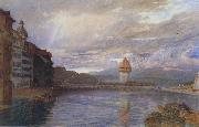 Alfred William Hunt,RWS Lucerne (mk46) oil painting