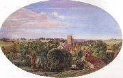 Anthony Frederick Augustus Sandys A Panoramic View of Hunworth (mk46) oil
