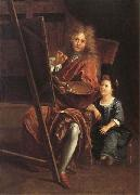 Antoine Coypel Portrait of the Artist with his Son,Charles-Antoine oil painting artist