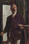 Arnold Bocklin Self-Portrait in his Studio oil painting picture wholesale