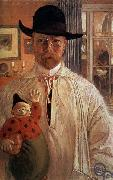 Carl Olaf Larsson Self-Portrait oil painting picture wholesale