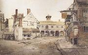 Cornelius Varley Ross Market Place,Herefordshire a sketch on the spot (mk47) oil