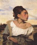 Eugene Delacroix Orphan Girl at the Cemetery (mk45) oil painting picture wholesale