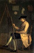 Friedrich Tischbein Self-Portrait at the Easel oil painting artist