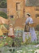 George John Pinwell,RWS In a Garden at Cookham (mk46) oil painting picture wholesale