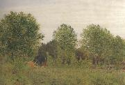 George Price Boyce.RWS Black Poplars at Pangbourne (mk46) oil painting picture wholesale